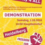 01.10.: Antira-Demo Solidarity4all in Heidelberg
