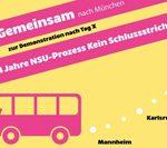 11.7.: Urteil im NSU-Prozess - Kein Schlussstrich!