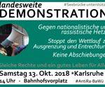 13.10.: Landesweite Antira-Demo in Karlsruhe