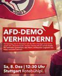 8.12.: AfD-Aufmarsch in Stuttgart verhindern!