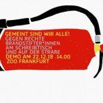 22.12.: Demo in Frankfurt gegen rechte Brandstifter*innen