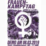 8.3.: Heraus zum Internationalen Frauenkampftag!