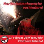 23.2.: Naziaufmarsch in Pforzheim verhindern! - Zugtreffpunkt HD