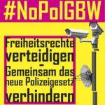 12.10.: NoPolG! Aktionstag gegen das Polizeigesetz